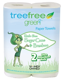 Tree Free Perforated Paper Towels, 2 Rolls