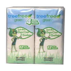 Tree Free Pocket Facial Tissue, 4 pack